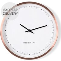 Product photograph showing Aurelia Wall Clock Copper