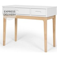 Product photograph showing Linus Desk Pine And White