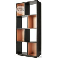Product photograph showing Anderson Narrow Bookcase Mocha Mango Wood And Copper
