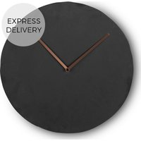 Product photograph showing Miner Wall Clock Slate And Copper