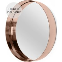 Product photograph showing Alana Round Mirror 50 X 50 Cm Copper