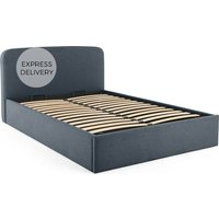 MADE Essentials Besley Super King Size Bed with Storage, Aegean Blue