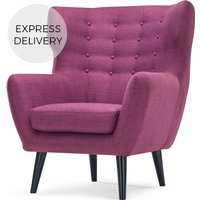 Kubrick Wing Back Chair, Plum Purple