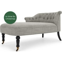 Bouji Left Hand Facing Chaise, Linen Mix Grey