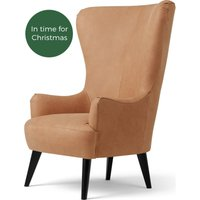 Bodil Accent Chair, Tan Leather