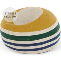 Product photograph showing Layla Cocoon Bean Bag Multi Striped Braided Weave