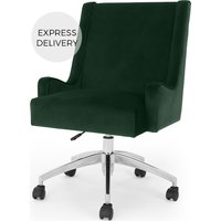 Product photograph showing Higgs Office Chair Pine Green Velvet