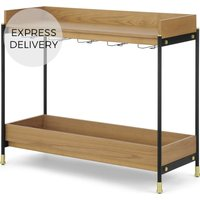 Pledger Console Bar, Black and Oak