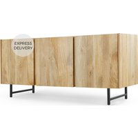 Aphra Sideboard, Light Mango Wood and Black