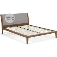 Lansdowne Double Bed, Walnut and Cool Grey