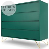 Elona Chest Of Drawers, Racing Green