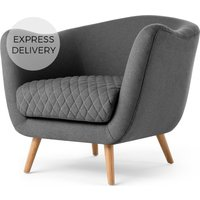 Flick Accent Chair, Marl Grey