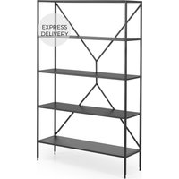 Solomon Wide Shelving Unit, Black