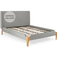 Roscoe Super King Size Bed, Cool Grey
