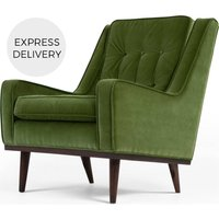 Scott Armchair, Grass Cotton Velvet