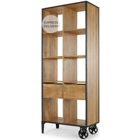 Humphrey Shelving Unit with Storage, Mango Wood