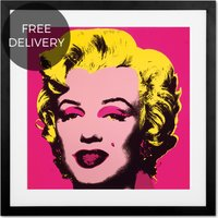 Marilyn Monroe 1967 by Andy Warhol, 50 x 50cm Framed Wall Art Print