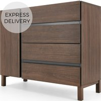 Product photograph showing Xander Chest Of Drawers Walnut