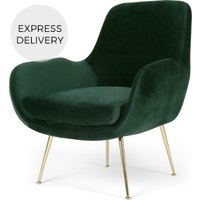 Product photograph showing Moby Accent Armchair Pine Green Velvet