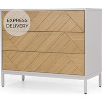 Mera Chest of Drawers, Oak & Grey