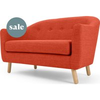 Lottie 2 Seater Sofa, Tuscan Orange