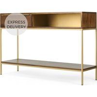 Product photograph showing Anderson Console Table Mango Wood And Brass