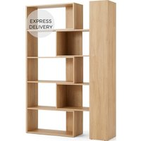 MADE Essentials Doyle Extending Shelving Unit, Oak Effect