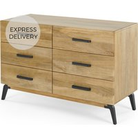 Lucien Wide Chest of Drawers, Light Mango Wood