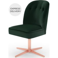 Product photograph showing Margot Office Chair Pine Green Velvet And Copper