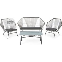 Product photograph showing Copa Garden Lounge Set Grey