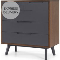 Jenson Chest Of Drawers Dark stain and Grey