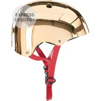 Made X Bobbin Bike Helmet, Brass With Red Strap S/m