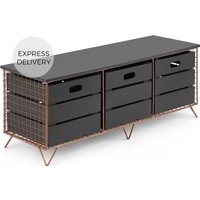 Amph Storage Bench, Copper and Grey