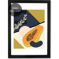 Papaya, 59 x 84 cm (A1) Framed Wall Art Print
