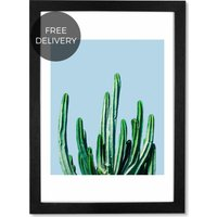 Cactus by 83 Oranges, 65 x 90 cm (A1) Framed Wall Art Print