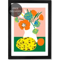 Flowers I, 59 x 84 cm (A1) Framed Wall Art Print