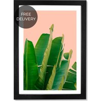 Banana Leaves by Rafael Farias, 65 x 90 cm (A1) Framed Wall Art Print