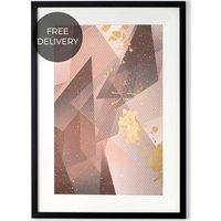 Aurelia Tones Framed Art Print, Pink and Gold