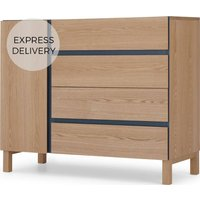 Xander Chest of Drawers, Ash & Navy Blue
