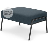Product photograph showing Knox Footstool Aegean Blue