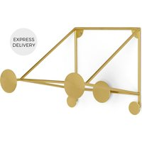 Bran Wall Mounted Bike Stand, Brass