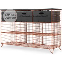 Amph Hallway storage console, Copper and Grey