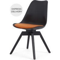 Product photograph showing Thelma Office Chair Black And Orange