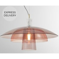 Product photograph showing Lab Pendant Light Pink Grey