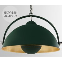 Chicago Large Pendant  Green   Brass