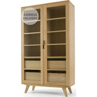 Aveiro Display Cabinet, Oak and Glass