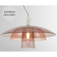 Lab Pendant Light  Pink   Grey