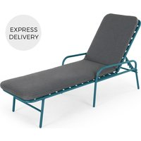 Product photograph showing Made Essentials Tice Garden Sun Lounger Teal