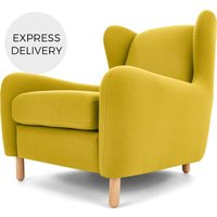 Rubens Wingback Armchair, Light Moss Green
