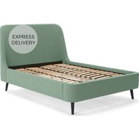 Hayllar King Size Bed, Mint Green Weave